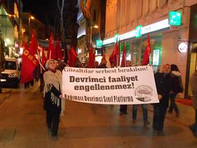 kartalda gozaltilar protesto edildi