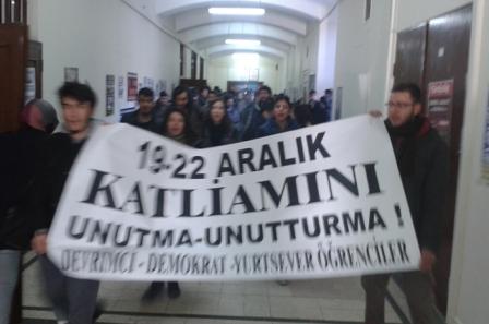 istanbul universitesinde 19 aralik anmasi