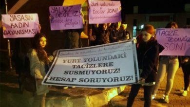 KTÜlü kadınlar tacize karşı eylem yaptı
