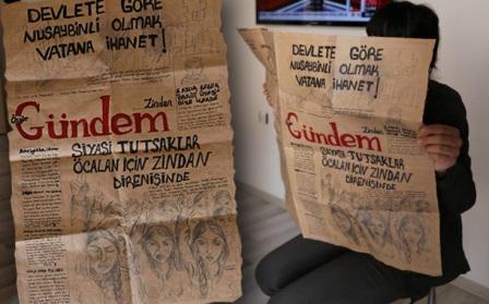 Photo of Tutsaklardan Özgür Gündem Zindan gazetesi