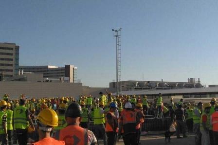 Mersin Şehir Hastanesinde işçiler iş bıraktı