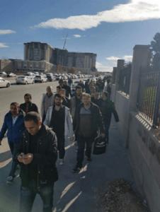 Bilkent Şehir Hastanesi inşaatı işçileri iş bıraktı