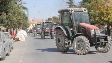 karamanda çiftçilerden traktörlerle eylem