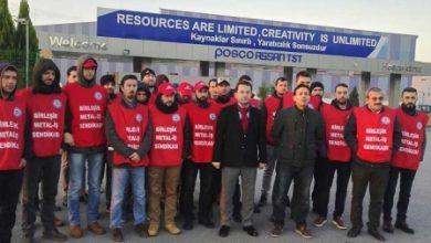 Posco işçisi eyleme başladı