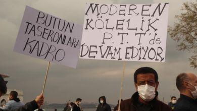Photo of Sendikalı oldukları için işten çıkarılan PTT işçilerinden eylem