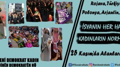 Photo of 25 KASIM | YDK: İsyanın her hali, kadınların normali!